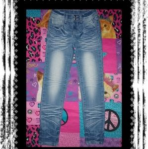 PREOWNED~💘VERY CUTE💘GIRL'S SIZE 12 SKINNY JEANS